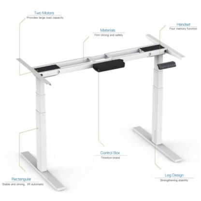EDesk Dual Motor Height Adjustable Desk (1)