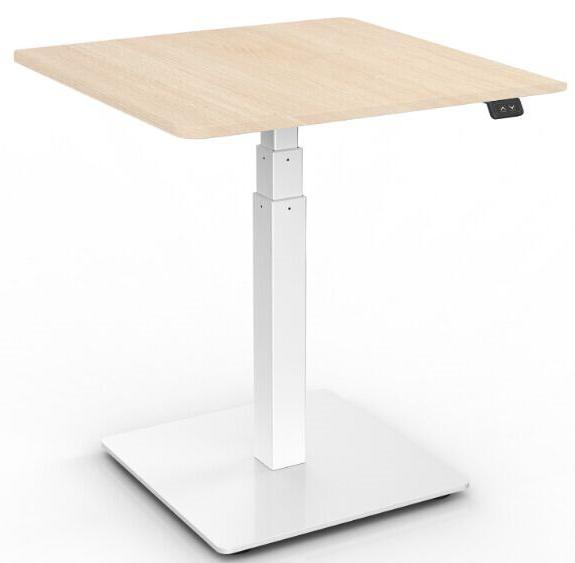 Charmant One Leg Height Adjustable Desk Table