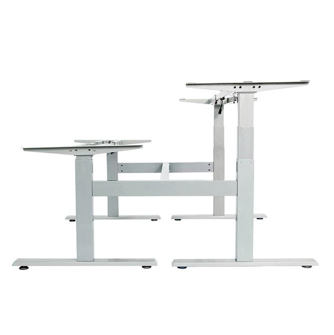 height adjustable desk frame 4 leg 3 stage