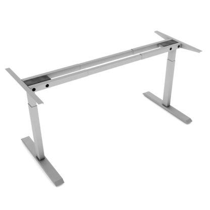 height adjustable desk frame 2 leg 2 stage
