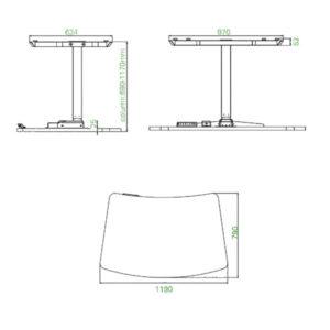 EDesk Single Leg Height Adjustable Desk (1)