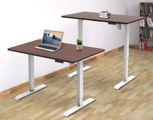 Single motor height adjustable desk (2)