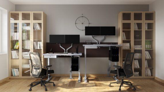 Manual Height Adjustable standing desk frame (3)