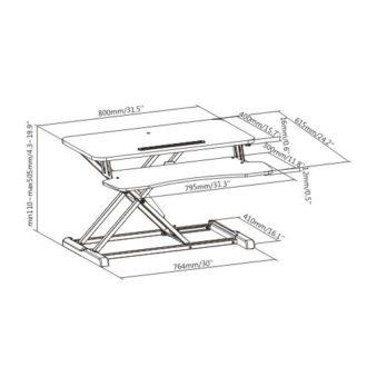 Sleek Sit Stand Desktop Converter