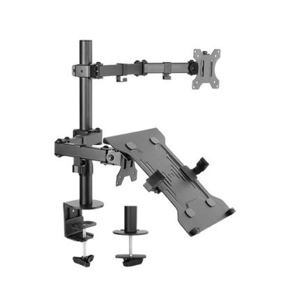 Economy Steel Monitor Arm with Laptop holder
