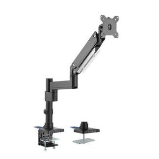 Heavy Duty Gas Spring Aluminium Single Monitor arm