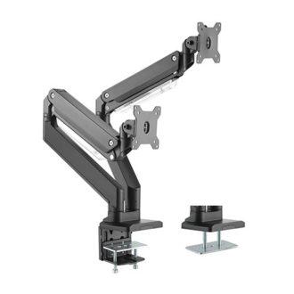 Heavy Duty Gas Spring Aluminium Dual Monitor arm