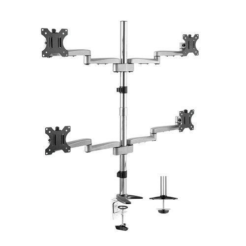 Modular Aluminium Four Monitor Arms