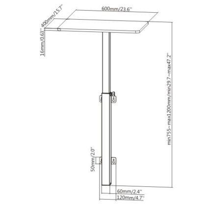 Wall Mounted Height Adjustable Desk Workstation