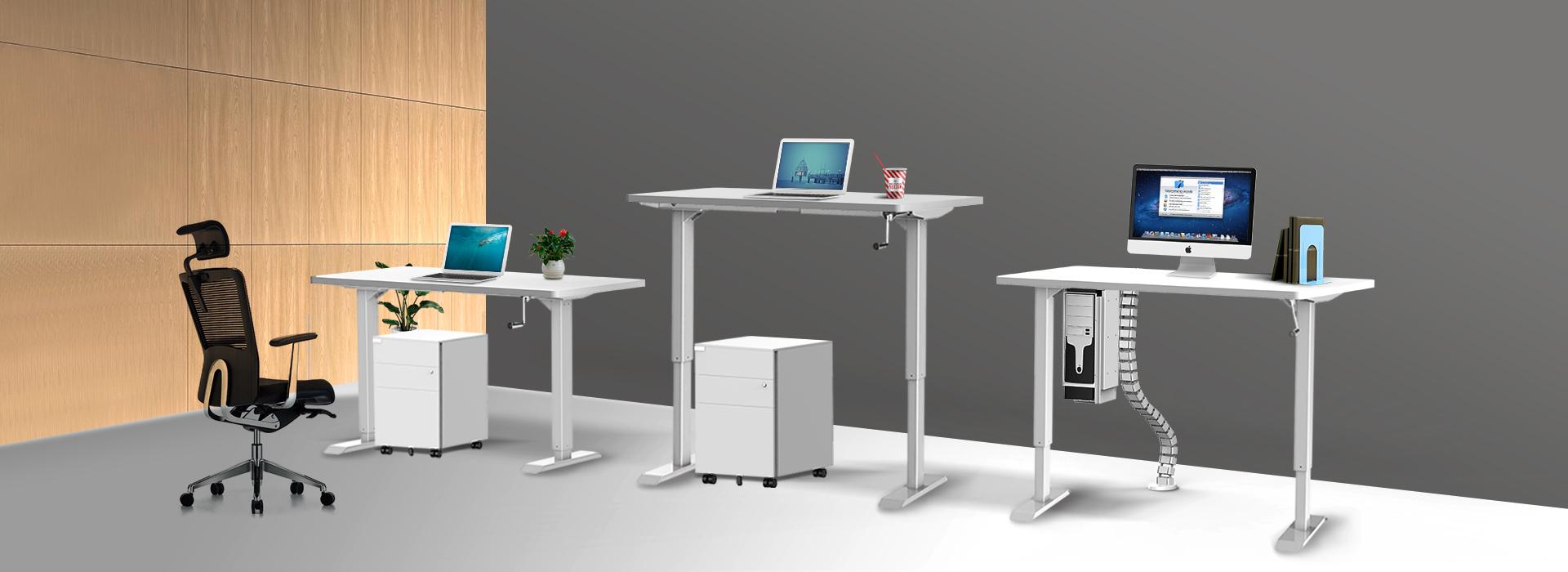 Edesk Ergologic Manual Height Adjustable Desk India Mumbai